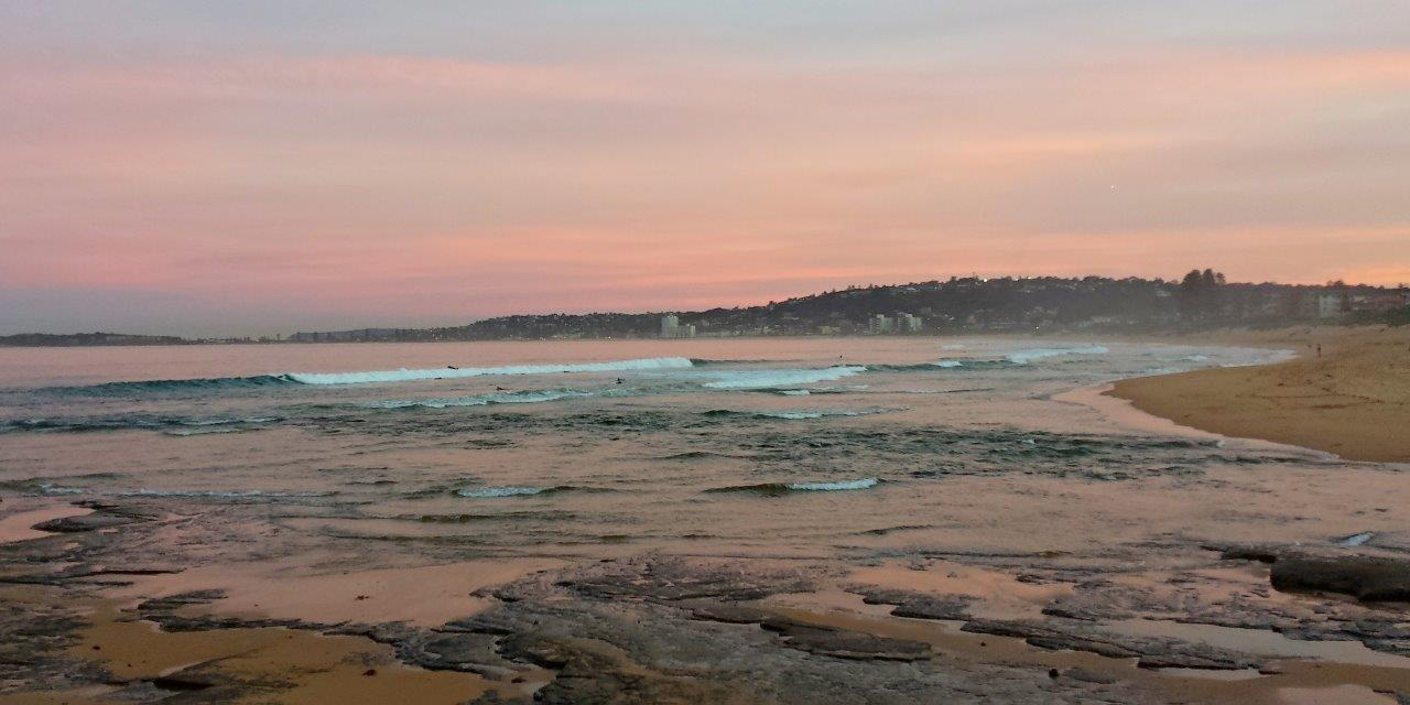 Dusk over North Narrabeen Beach, New South Wales, Australia