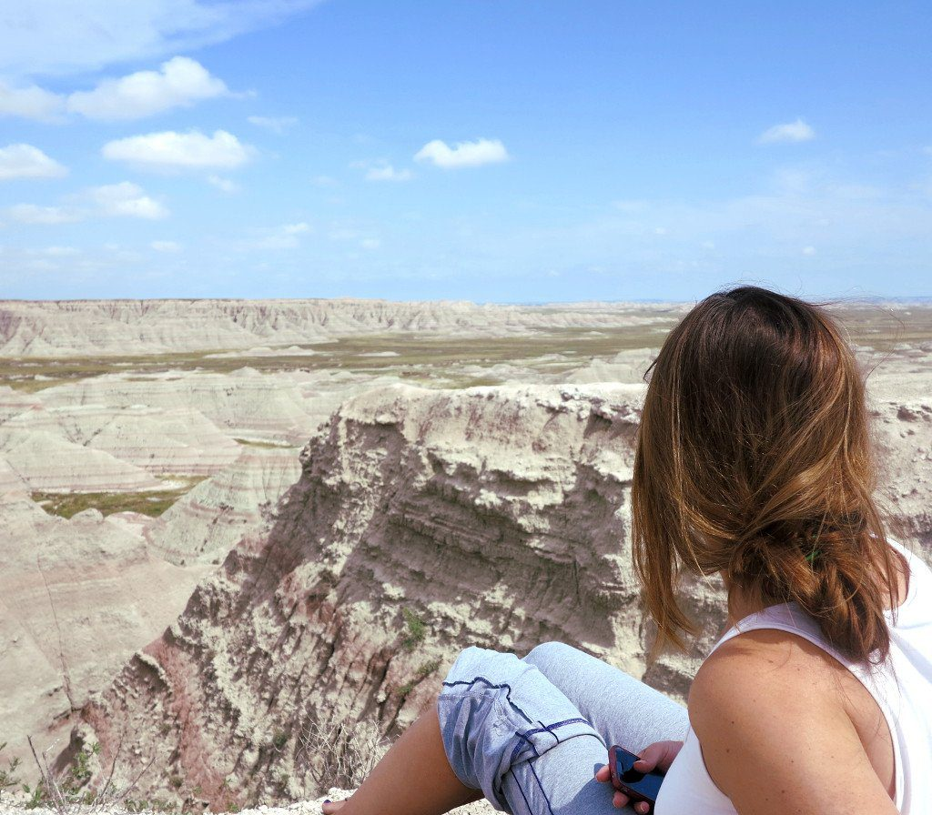 Taking in the view of the magical Badlands