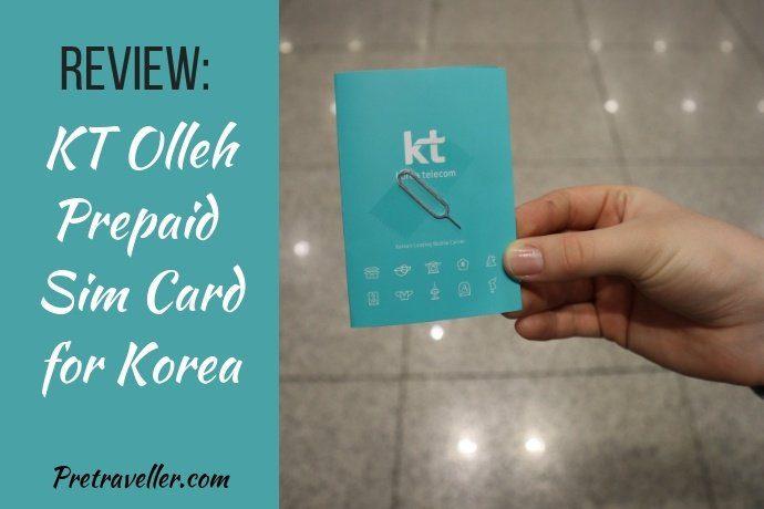 Review - KT Olleh Prepaid Sim Card for Korea