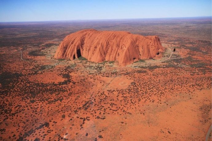View of Uluru from the Air
